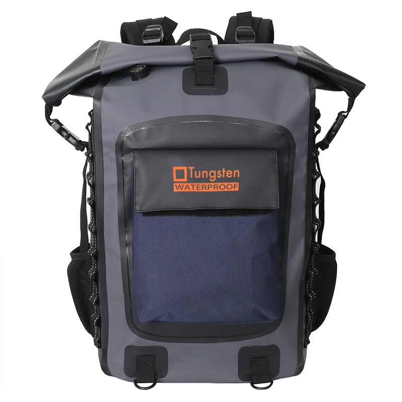 Roll-top dry backpack
